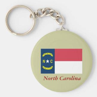 ノースカロライナの州の旗 キーホルダー