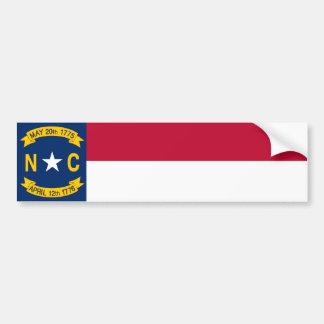 ノースカロライナの州の旗 バンパーステッカー