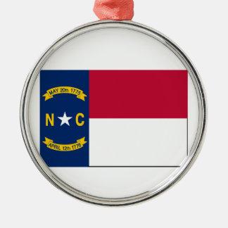 ノースカロライナの州の旗 メタルオーナメント