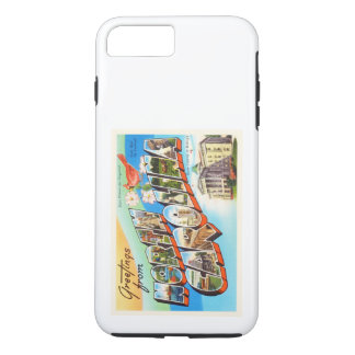 ノースカロライナの州#2 NCのヴィンテージ旅行郵便はがき iPhone 8 PLUS/7 PLUSケース