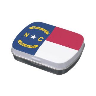 ノースカロライナの旗が付いている愛国心が強いキャンデーの錫 キャンディー缶