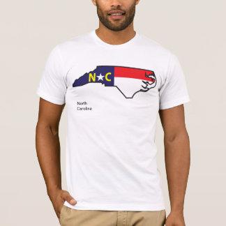 ノースカロライナの旗の地図のワイシャツ Tシャツ
