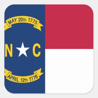 ノースカロライナの旗 スクエアシール