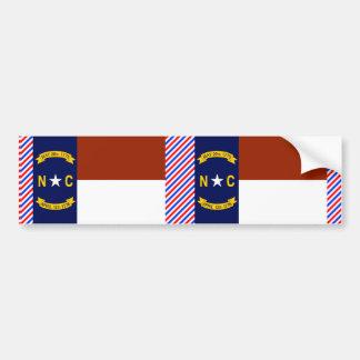 ノースカロライナの旗 バンパーステッカー