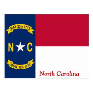 ノースカロライナの旗 ポストカード