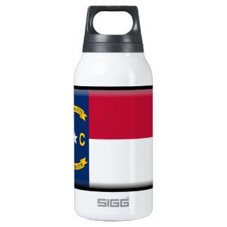 ノースカロライナの旗 断熱ウォーターボトル