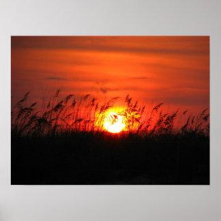 ノースカロライナの日没 ポスター