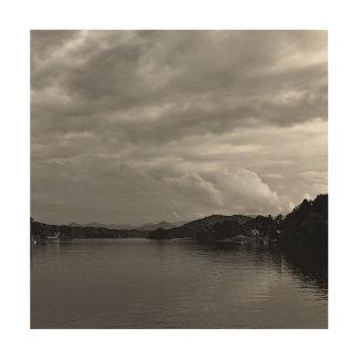 ノースカロライナの湖の景色の写真 ウッドウォールアート