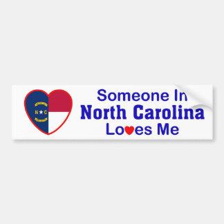 ノースカロライナの誰かは私を愛します バンパーステッカー