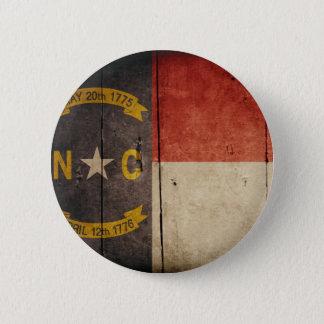 ノースカロライナの険しい木製の旗 5.7CM 丸型バッジ
