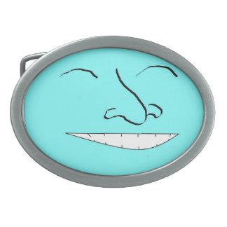 ノースカロライナの青く幸せな顔のベルトの留め金 卵形バックル