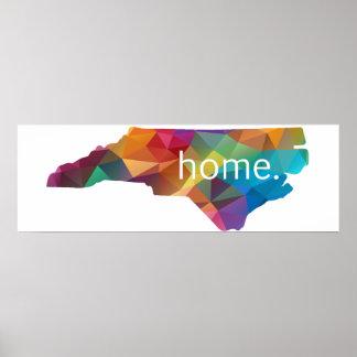 ノースカロライナ家のLowpolyの虹ポスター ポスター