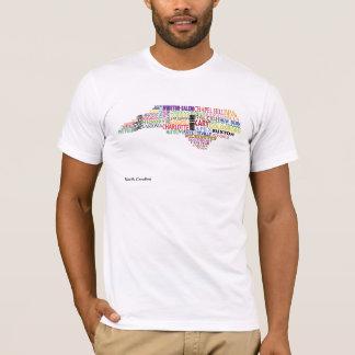 ノースカロライナ都市地図 Tシャツ