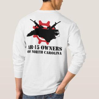 ノースカロライナ長袖のT-ShirのAR-15所有者 Tシャツ