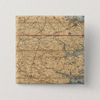 ノースカロライナ2 5.1CM 正方形バッジ