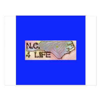 """""""ノースカロライナ4生命""""の州の地図のプライドのデザイン はがき"""