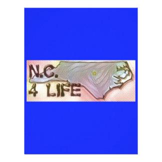 """""""ノースカロライナ4生命""""の州の地図のプライドのデザイン レターヘッド"""