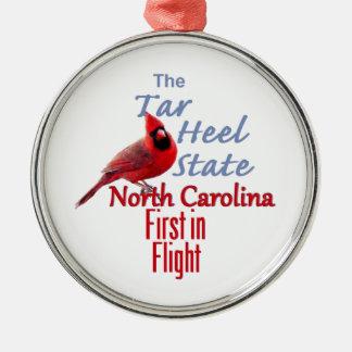 ノースカロライナ シルバーカラー丸型オーナメント