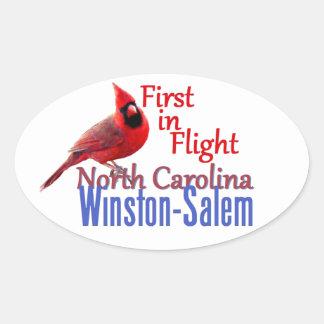 ノースカロライナ 楕円形シール