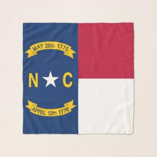 ノースカロライナ、米国の旗が付いている正方形のスカーフ スカーフ