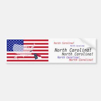ノースカロライナ、米国 バンパーステッカー