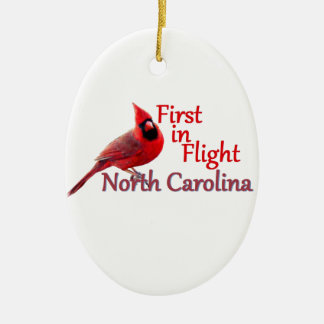 ノースカロライナ 陶器製卵型オーナメント
