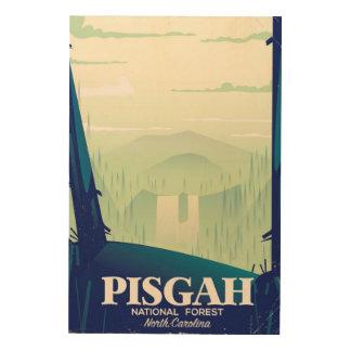 ノースカロライナPisgahの国立公園旅行ポスター ウッドウォールアート