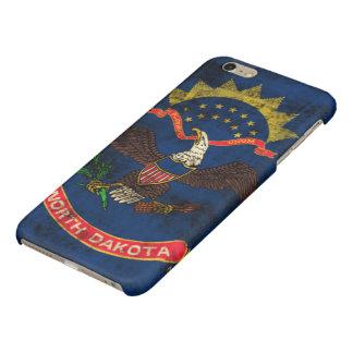 ノースダコタのグランジな旗 光沢iPhone 6 PLUSケース