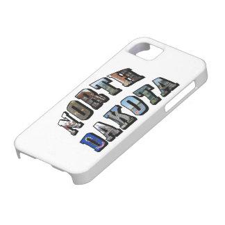 ノースダコタの写真の文字 iPhone SE/5/5s ケース