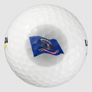 ノースダコタの旗のロゴ ゴルフボール