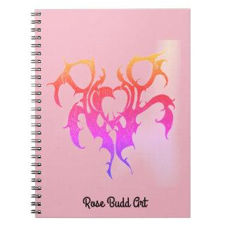 ノートのピンク ノートブック