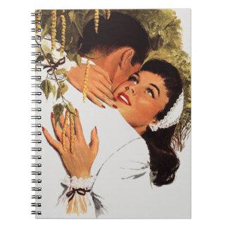 ノートのレトロの来客名簿の婚約パーティNotebk ノートブック