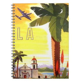 ノートのレトロのLAの本旅行ジャーナルノート ノートブック