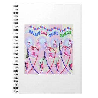ノートの銀の輝きの精神的な精神のダンス ノートブック