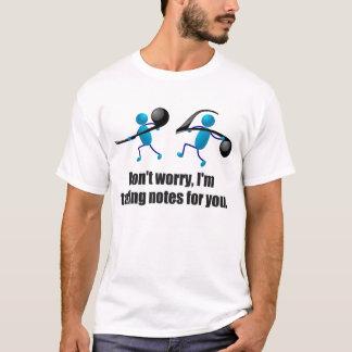 ノートを取るおもしろいな音楽 Tシャツ