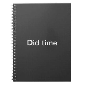 ノートを時間を計って下さい ノートブック