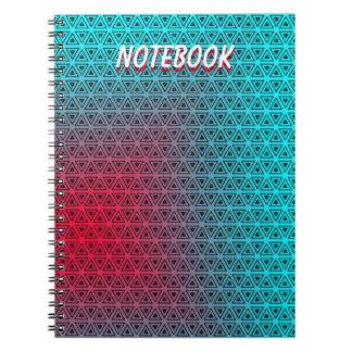 ノートを飾るカスタムの抽象的なターコイズ ノートブック