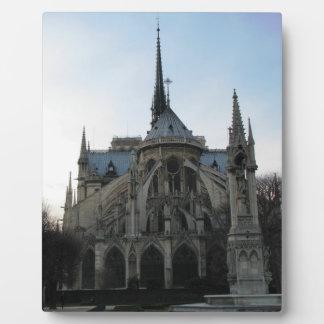 ノートルダム大聖堂が付いているスタイリッシュなプラク フォトプラーク