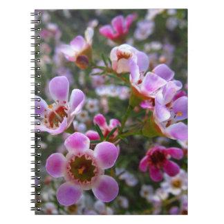 ノート/個人的なジャーナル-ピンクのmanukaは開花します スパイラルノート