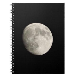 ノート/個人的なジャーナル-暗いskの満月 スプリングノート