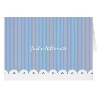 ノート-青ありがとう カード