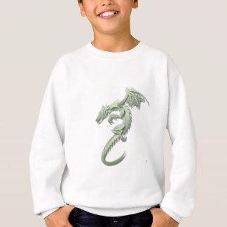 ノーバート金属緑ドラゴン スウェットシャツ