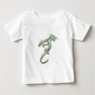 ノーバート金属緑ドラゴン ベビーTシャツ