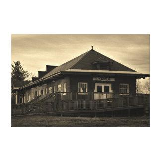 ノーフォークおよび西部の鉄道のPamplinの駅 キャンバスプリント
