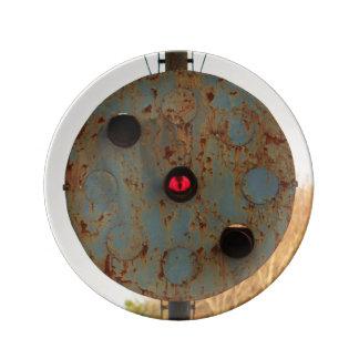 ノーフォークおよび西部の鉄道信号ライトプレート 磁器プレート