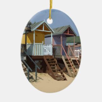 ノーフォークのビーチ小屋 セラミックオーナメント