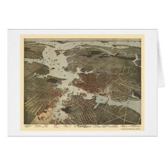 ノーフォークのVAのパノラマ式の地図- 1891年 カード