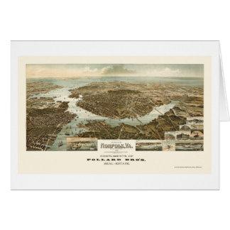 ノーフォークのVAのパノラマ式の地図- 1892年 カード