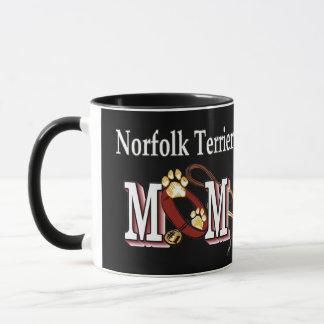 ノーフォークテリアのお母さんのギフト マグカップ