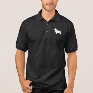 ノーフォークテリアのシルエット ポロシャツ